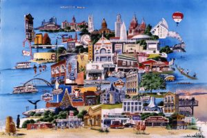 Images of austin watercolor print by Mary Doerr
